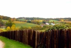 Amish fence row (LaLa83) Tags: wood autumn trees ohio fence sony charm september hills valley alpha 2012 hff amishcountry a230 holmescounty ruralohio fencefriday happyfencefriday fencedfriday