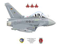 EF 2000 Typhoon (blackheartart) Tags: art germany aircraft aviation military german raptor eurofighter caricature zapata typhoon luftwaffe aricraft jg74 742sqd