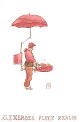 Bratwurst im Alexander Platz (omar.paint) Tags: sketchbook stillman berlingermany birn urbansketchers