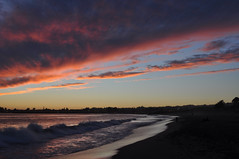 October Sunset! (clairehintze) Tags: ocean sea beach beauty clouds waves octobersunset sunsetsantacruzca