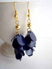 Navy blue upcycled earrings (d'ekoprojects) Tags: blue recycled handmade navy jewelry earrings ecofriendly handmadejewelry upcycled recycledjewelry modernjewelry ecofriendlyjewelry recycledearrings upcycledjewelry modernearrings recycledplasticbottle upcycledearrings