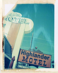 Williams, AZ (moominsean) Tags: polaroid 190 instant type669 expired082000 arizona williams southwest highlander motel route66