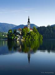 DSC9287 (Elvir72) Tags: bled slovenia favourite nature church europe island reflection