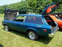 1975 Chevy Vega Kammback (splattergraphics) Tags: 1975 chevy vega kammback wagon stationwagon v8vega carshow libertystreetrods winfieldvolunteerfiredept sykesvillemd