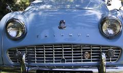 Peut tre un triomphe !!!! (Elyane11) Tags: voiture bleu carrosserie ombre reflet capot phare triumph