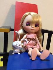 Um coelhinho muito louco tambm foi, e queria a cadeira s para ele. (gomides1) Tags: coelho bunny chair cadeira mondrian blythe snowball