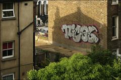 (Alex Ellison) Tags: eastlondon urban trackside rooftop graffiti graff boobs nigel tnf