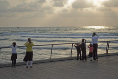 DSC_2029 (Dan_lazar) Tags: bein hazmanim tel aviv israel orthodox religious       sunset beach port sea