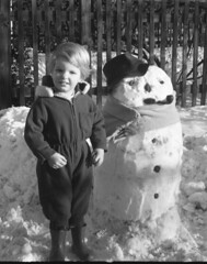 Pipe Extra (theirhistory) Tags: child snow kid snowman pipe hat scarf wellies snowsuit winter england wellingtons