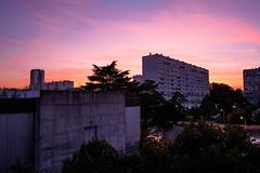 Banlieue Rouge (Mr.Totoxo) Tags: bordeaux soleil soleilcouchant soir urbain hlm zup salleconcert squat gh4 samyang 12mm