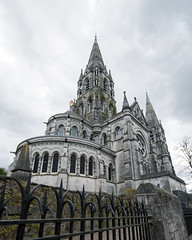 St. Fin Barre's Cathedral (Peter E. Lee) Tags: stone spring church republicofireland 2016 ire saintfinbarrescathedral gloomy grey clouds cork gray architecture gothic ireland roi eire fence