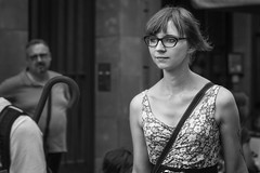 You have very pretty eyes... (Periades) Tags: bw blackandwhite blackwhite candid eyes fille femme girl glasses human lunettes nb noiretblanc photoderue rue streetphotography street streethuman woman yeux