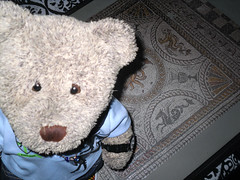 One of me tesserae is missin'! * (pefkosmad) Tags: jigsaw puzzle leisure pastime hobby roman mosaic 750pieces fishbourneromanpalace tesserae tiles tedricstudmuffin teddy ted bear stuffed soft toy cuddly cute plush fluffy onepiecemissing missingpiece flooring floor home britain romanbritain