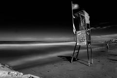 Lifeguard's Post (Scrufftie) Tags: gitzotripod canonef24105mmf4lisusm blackwhite italia canon longexposure hitechformattfilters sea casalbordinolido tripod abruzzo monochrome ndfilter travel style seascape canon5dsr mono bw italy landscape