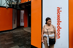 Nickelodeon (Spyros Papaspyropoulos) Tags: colour colourphotography color streetphotography streetphotographer street shadows light london england uk unitedkingdom greatbritain britain streethunters candid candidphotography fujifilmxpro1 xf18 18mm photography lightroom nickelodeon woman orange dayshot morning day