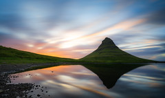Kirkjufell mountain. (Luke Sergent) Tags: adventure amazing attraction beautiful beautifull beauty bright cascade cloud cloudy country dramatic europe evening extreme fall flow golden grass green grundarfjordur hill holiday iceland icelandic island kirkjufell kirkjufellsfoss land landmark landscape light magical midnight midnightsun mount mountain mountains national natural nature outdoor outdoors peninsula river scene scenery scenic scenics sky snaefellsnes stream summer sun sunny sunrise sunset tourism travel vacation volcanic water waterfall weather west western