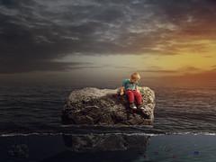 Finding Nemo (jimisolek) Tags: manipulation nemo sea boy fish sunset