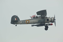 W5856 (Rob390029) Tags: royal navy ensign fairey swordfish biplane w5856 plane prop historic propeller 4a sunderland international air show 2016 flying flight airborne military aviation