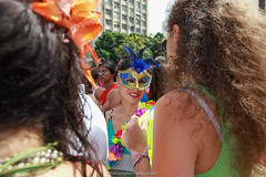 """Lady with mascara"" Rio de Janeiro, Brasil (VECTORINO) Tags: riodejaneiro rio rioetc carnaval carioca mascara fun summer hot mlazarevphoto streetphotography street brasil brazil people colors tropical travel natgeo"