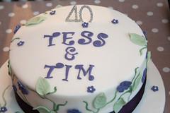 Birthday Cake (the_amanda) Tags: party food cake 40 tess tim birthday icing leaves