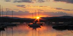 Sunrise (stevel2112@rocketmail.com) Tags: vermont mallettsbay lakechamplain sunrise sailboats