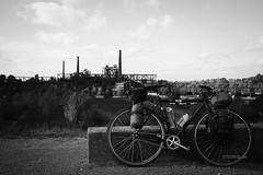 rusty machine (in the background) (Till Billy) Tags: bicycle touring fahrrad duisburg industrie park industry surly crosscheck carradice singlespeed tour rack racks urban