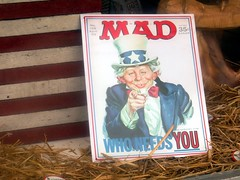 IMG_0327 (kennethkonica) Tags: madmagazine mad alfredenewman stripes comics parody poster straw icon cluture popculture funny canonpowershot windowdisplay window red white blue global random hoosier midwest usa america whatmeworry indiana indianapolis color indy text