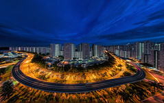 Grand Canyon Urban Edition (Gordon Koh) Tags: singapore asia hdb flats cityscape bluehour panoramic
