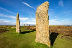 Ring of Brodgar (dgmann11) Tags: stone scotland landscape blue grass green monumental age