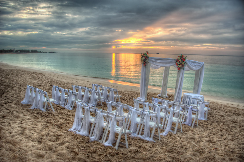 A wedding in the Bahamas.