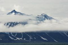 Low hanging clouds near Camp Morton