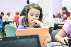 Hmmm.... (The Great Adventure Lab) Tags: girls technology scratch ggs vgp wedo legorobotics tgal videogameprogramming thegreatadventurelab girlsgetscience videogameprogrammingwithscratch