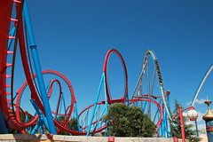 high and higher (TabascoEye) Tags: dragon roller khan coaster shambhala portaventura parksrides