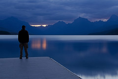 Mountains Whisper (dbushue) Tags: morning light lake mountains mike nature sunrise landscape dock nikon peaceful calm serene glaciernationalpark peaks majestic 2012 gnp apgar lakemcdonald d7000 damniwishidtakenthat tpslandscape stainedglassbeauty