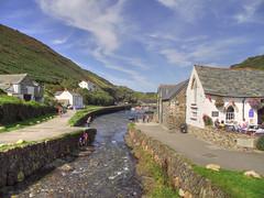 Boscastle, Cornwall (Ian Gedge) Tags: uk sea england river coast rocks cornwall flood harbour britain boscastle