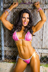 LauraLondonFitness.com (Laura London Fitness) Tags: pink sexy muscles exercise bikini motivation brunette biceps fitness abs fbb fitnessmodel lauralondon lauralondonfitness greenfitnessgoddess