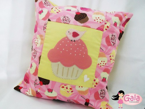 Almofada Cupcake rosa!