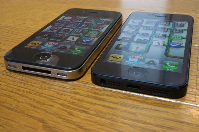 iPhone5→4比較