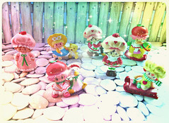 Strawberry Daze (Hazel) Tags: cute toys rainbow strawberry mini galaxy 80s kawaii figure 1980s shortcake satrs