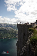 The Cliff of Preikestolen (Rixoon) Tags: summer cliff norway clouds norge pentax sigma sunny pulpit k5 preikestolen lysefjorden pulpitrock polarization preachers sigma1020 polarizationfilter preacherspulpit