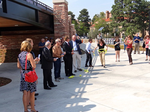 Photo - Ribbon officially cut ... in a few places.