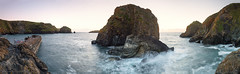 harbour, cove & rock (Scott Howse) Tags: ocean uk sunset sea england sky panorama rock coast nikon cornwall harbour dusk cove tide wide atlantic lee vista coastline filters headland ptgui mullion 09h 2470f28g d800e