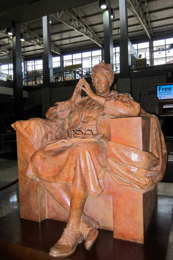 d2c4d6581ec Austin - Austin-Bergstrom Airport: Barbara Jordan statue (wallyg) Tags:  sculpture