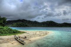 Jukung at Sebuku Kecil Island