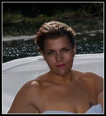 captured beauty (funkygreeneyedlady) Tags: red bw white black green nature water beautiful female river jamie artistic shots outdoor head bbw columbia eyed passionate bbwbbw funkygreeneyedlady mm2012811sunlight