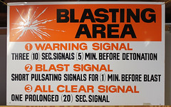 BLASTING AREA (blazer8696) Tags: usa fall festival museum warning kent all unitedstates antique connecticut ct science mining clear machinery signals mineral signal association blasting ecw img3696 kentfurnace t2012