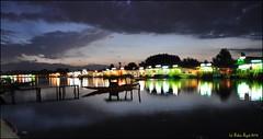 Kashmir (. Mountain ~~ Biker .) Tags: blue india reflection nature night clouds nikon paradise houseboat award tourist valley kashmir srinagar himalaya shikara d90