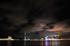 Macau  (Mel@photo break) Tags: light sky reflection building water night hotel mel melinda macau  westbridge pontedesaivan chanmelmel