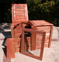 "2-Bin Montessori Compost Bin - panel out • <a style=""font-size:0.8em;"" href=""https://www.flickr.com/photos/87478652@N08/8047995353/"" target=""_blank"">View on Flickr</a>"