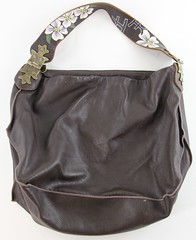 1040. Chocolate Leather Hobo Bag, Tylie Malibu